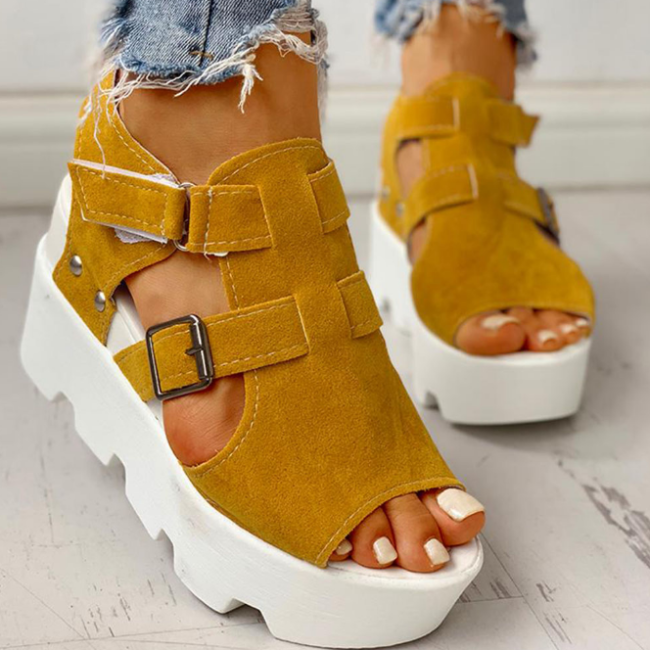 2020 Fashion Summer Platform Wedge High Heels Casual Light Leisure Sandals