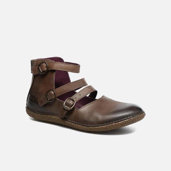 2019 Women Casual Flat Heel Adjustable Buckle Shoes