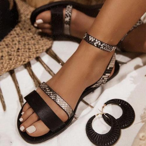 Women flat Buckle sandals