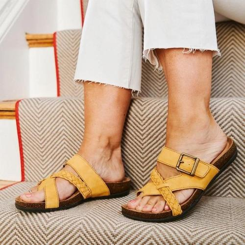 Women Beach Comfy Flip Flops Flat Heel Footbed Sandals