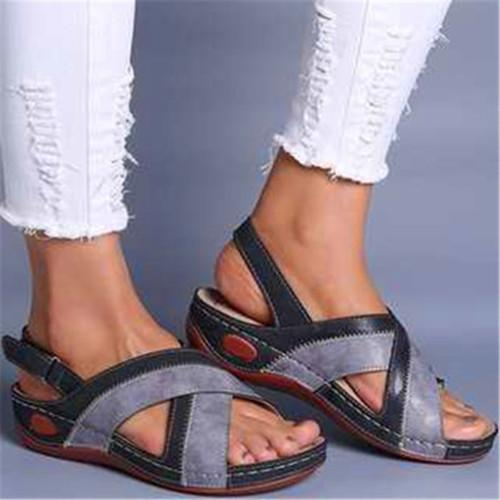 Flat Heel Artificial Leather All Season Holiday Sandals