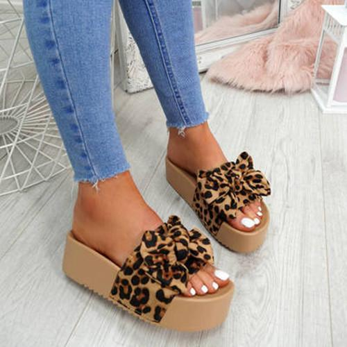 Women Soft Sole Bow Platform Sandals