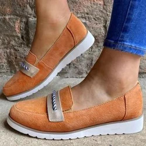 Women's Split Joint Closed Toe Flat Heel Loafers