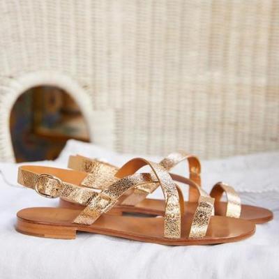 Women Casual Daily Peep Toe Flat Sandals
