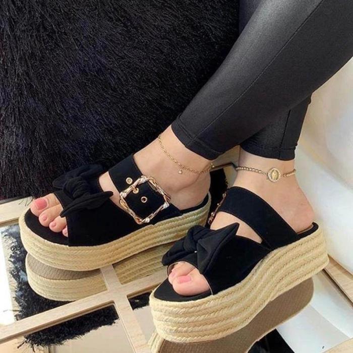 Wedge Heel Summer Faux Suede Sandals