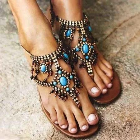 Women PU Sandals Casual Flip Flops Shoes
