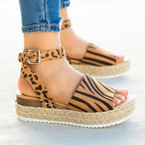 New Neutral Bow Wedge Sandals