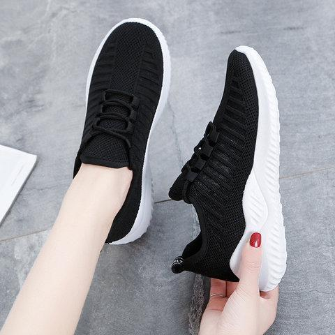 Womens Athletic Sneakers Slip On Chic Shoes