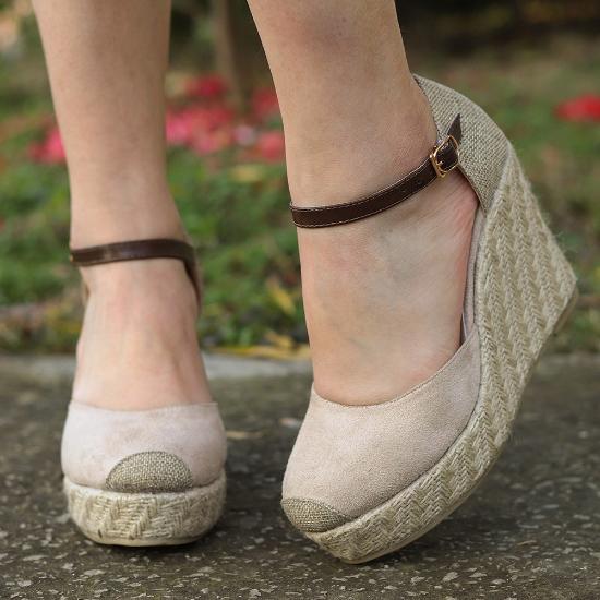 2020 New Fashion Women Summer Genuine Platform Wedge Sandals