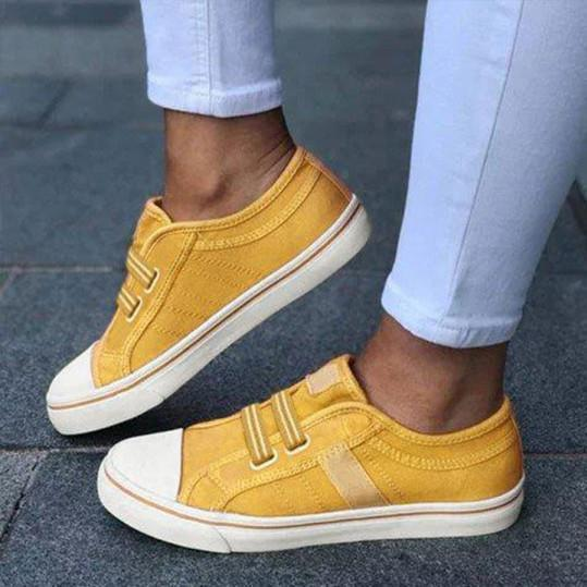 Plain Round Toe Casual Travel Sneakers