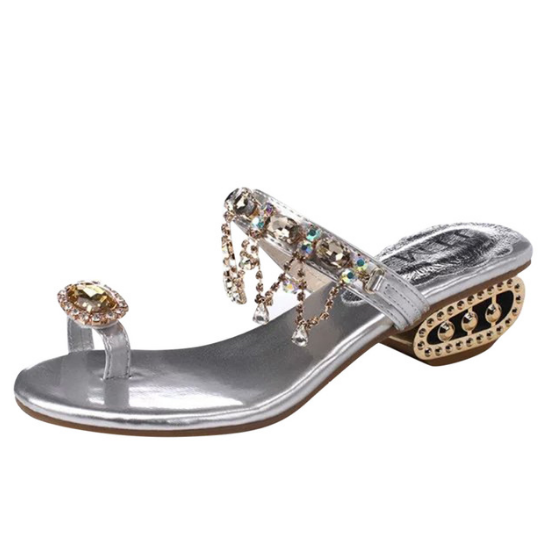 Women's Fashion Crystal Outdoor Toe Ring Party Sandals