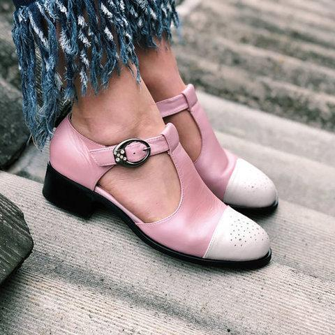 Women Casual Summer Daily Oxford T-Strap Sandals
