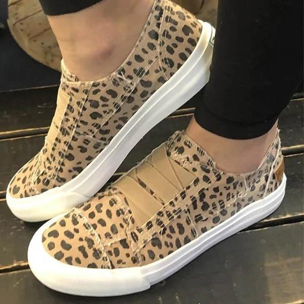 Women Latte Spots Slip on Sneakers
