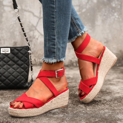 2020 New Fashion Woman Summer Wedge Sandals