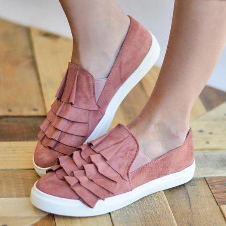 Casual Canvas Loafers 3D Round Toe Flats