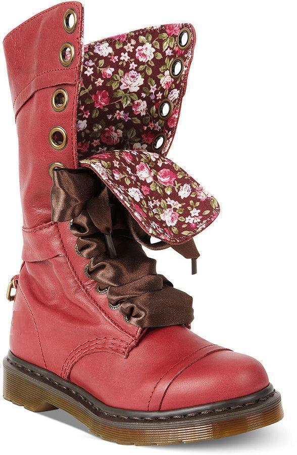 Womens Vintage Chunky Heel Lace-up Leather Daily Boots