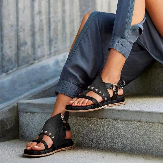 Women Artificial leather Platform Sandals
