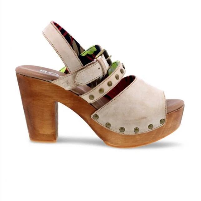 Pi Clue Heel Buckle Sandals