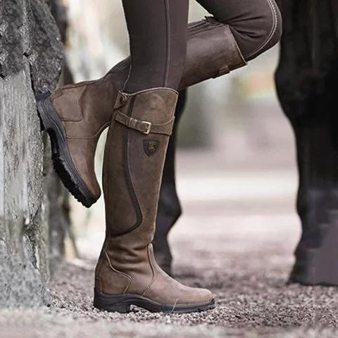 Women Pu Leather Low Heel Daily Boots