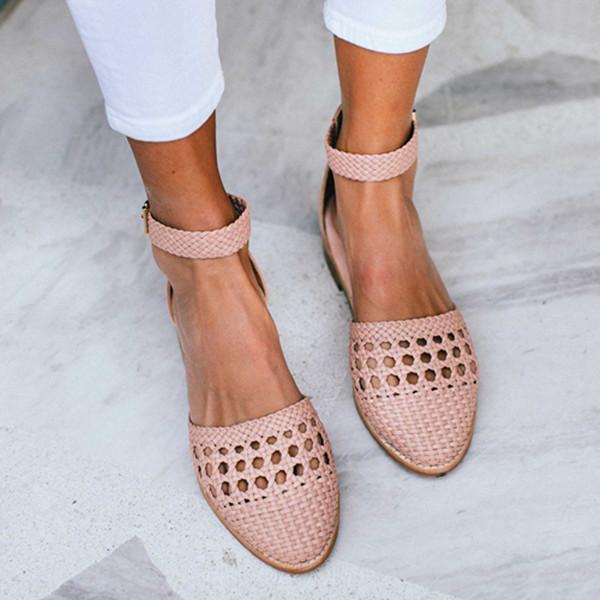 Women Summer Holiday Slip-On Close Toe Sandals