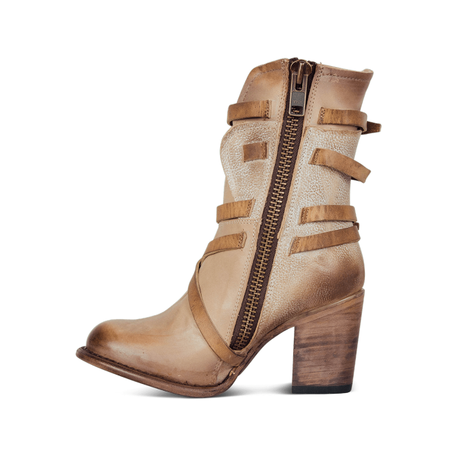 Women Vintage Zipper Mid-Calf Boots