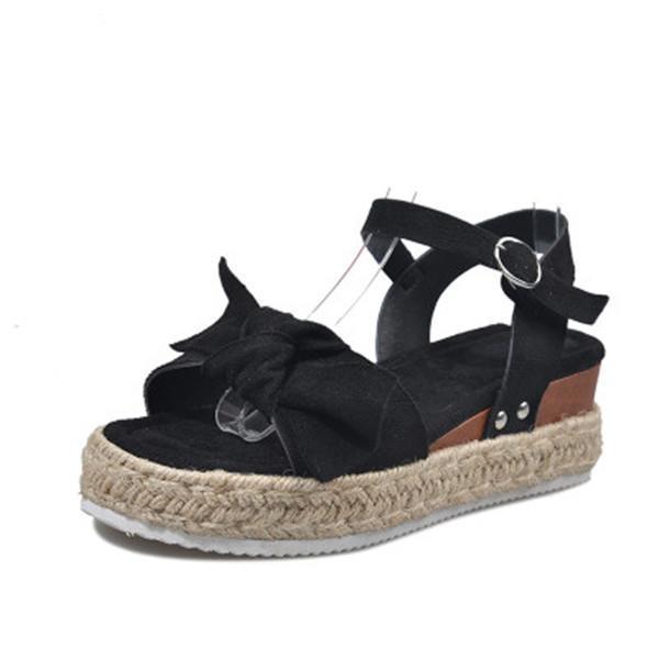 Women Buckle Platform  Sandals