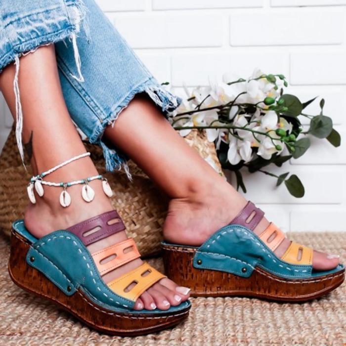 Women's Fashion Vintage Boho Wedge Sandals