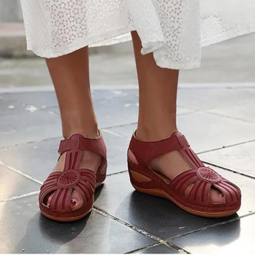 Women's Summer Round Head Thick Sandals