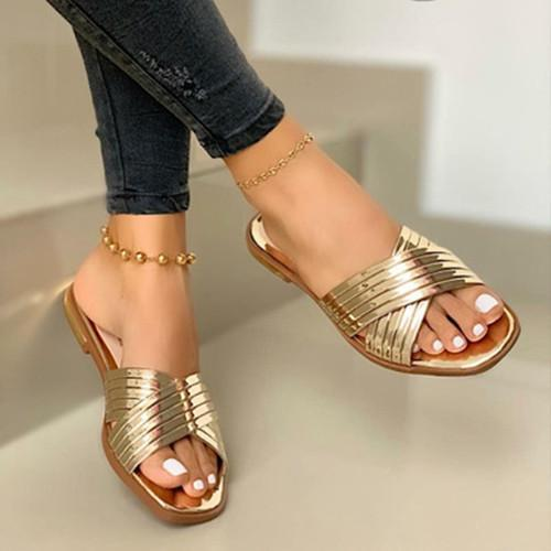 Flat Heel Holiday Sandals