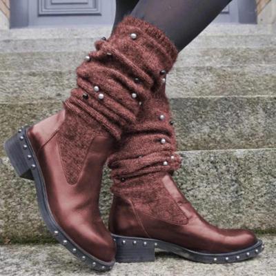 New Fashion Comfortable Low Heel Wool Warm Boots