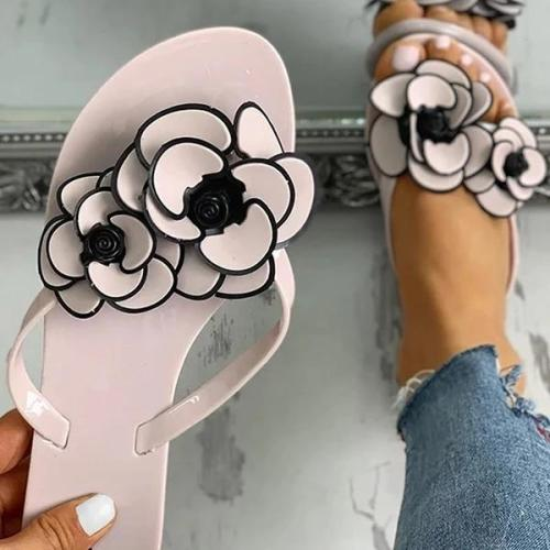 Casual Women Flower Slippers