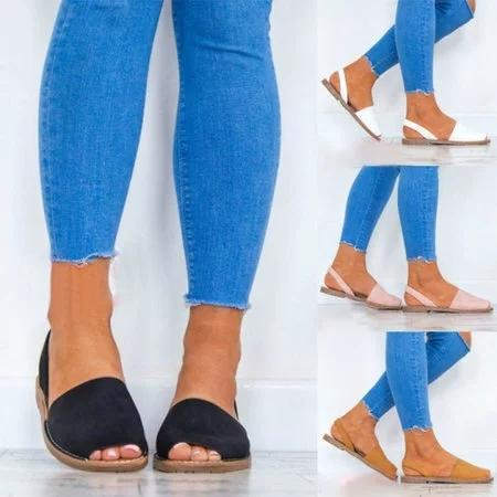 Women Larger Size Flat Sandal Shoes Summer New Style
