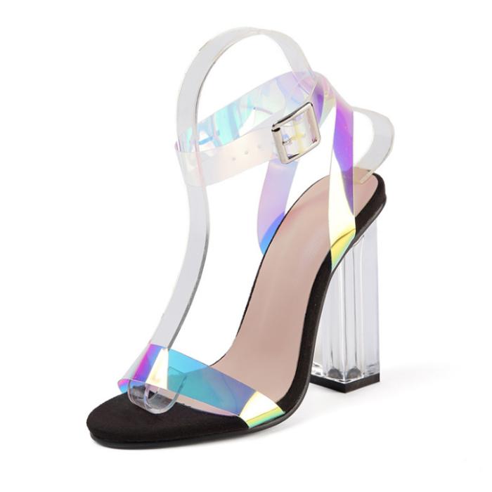 Cross-border Hot Sale Explosions Large Size Colorful Women's Sandals