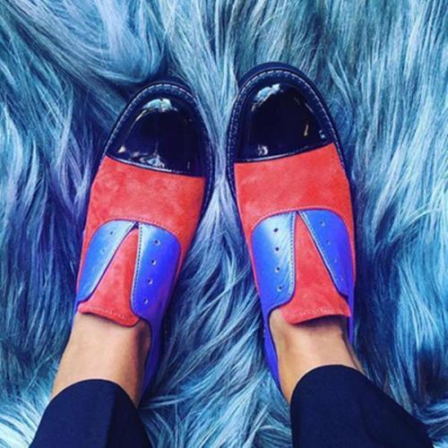 Color Block Slip-On Women Flats