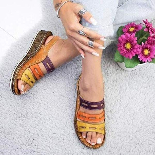 Elegant Wedge Hollow Simple Sandals
