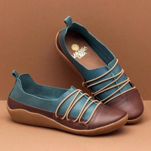 Women's flat straps retro style comfortable shoes