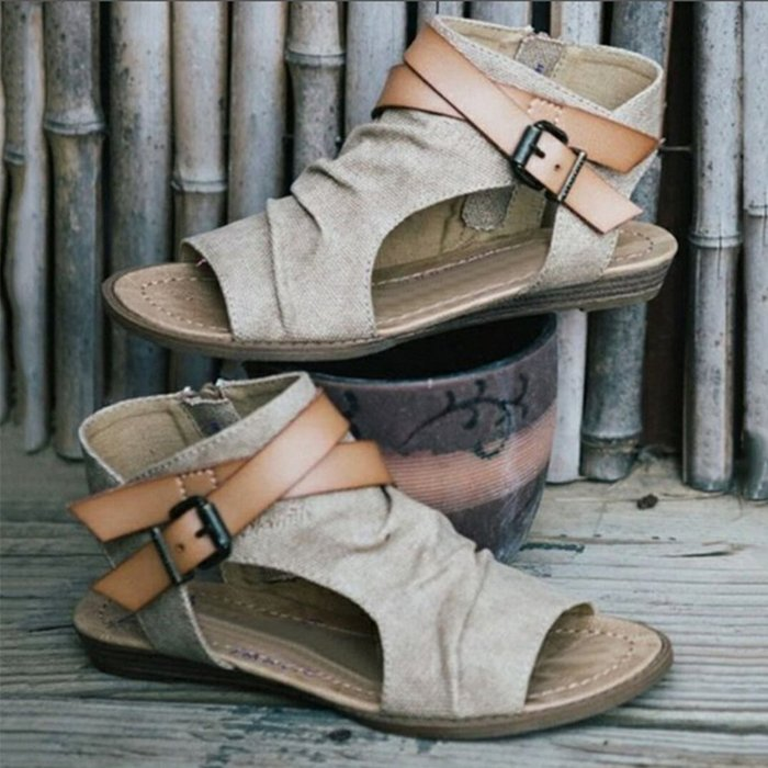 Blowfish Canvas Big Size Roman Sandals