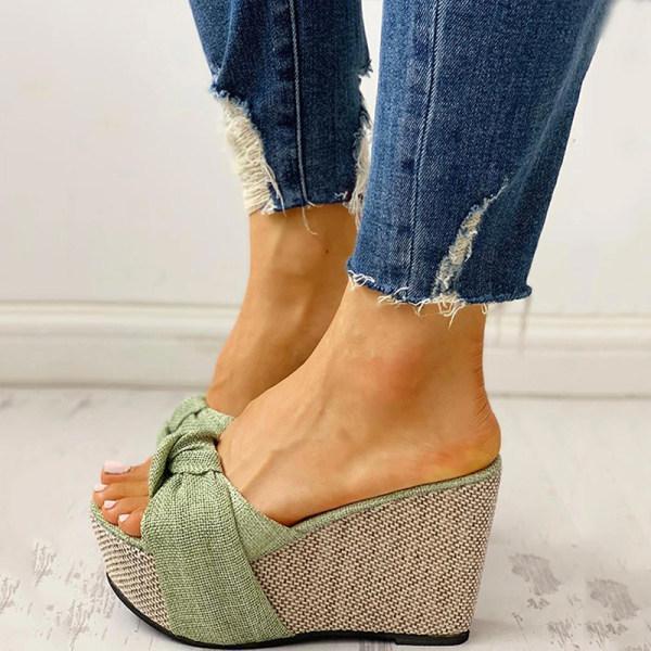 Wedge platform sandals