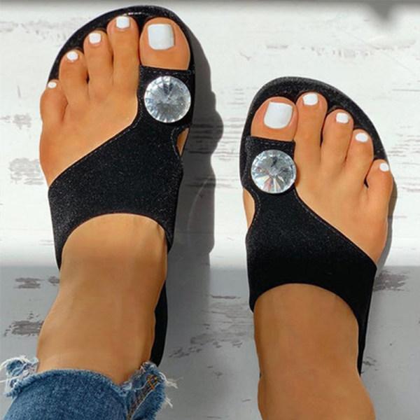 Plain Peep Toe Casual Comfort Slippers
