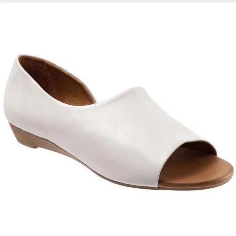 Womens Slip On Casual Low Heel Summer Sandals