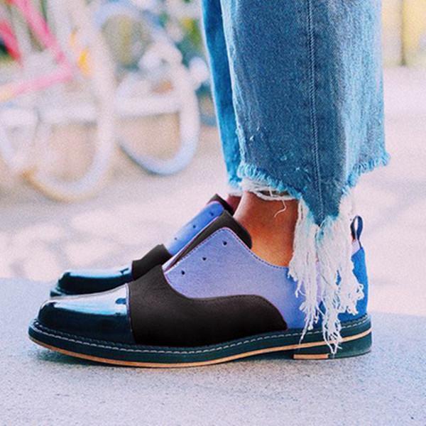 Color Block Slip-On Women Flats