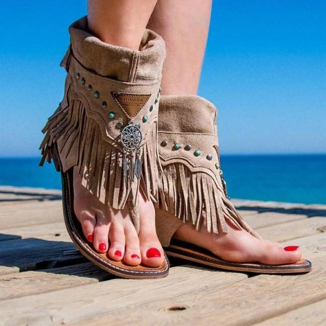 Flat Tassel Holiday Beach Sandals