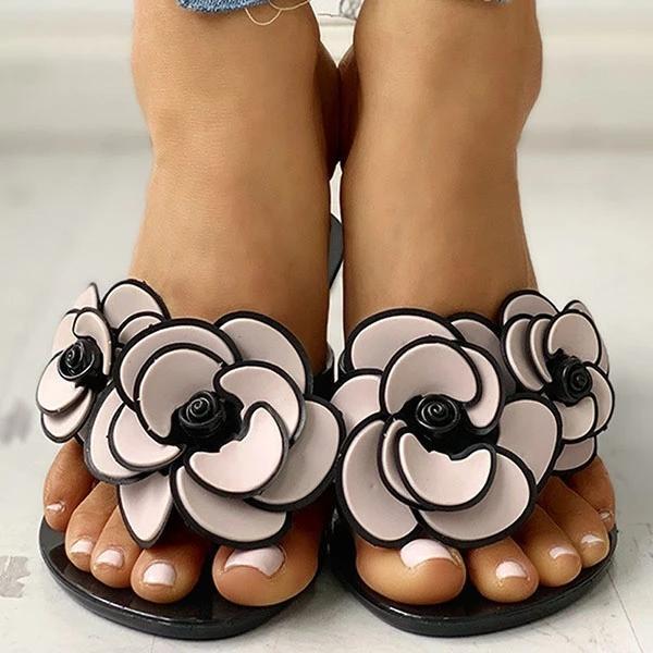 Casual Women Flower Slippers