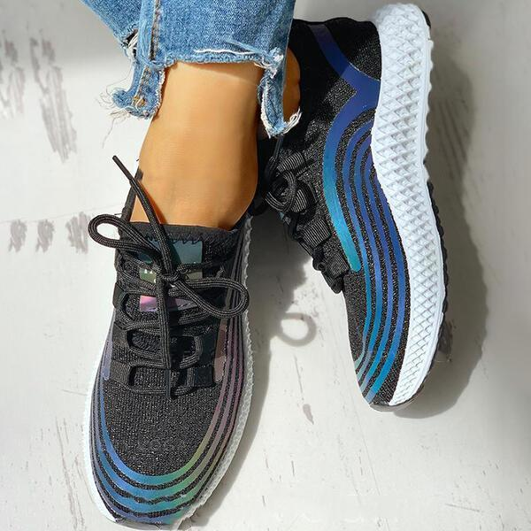 Women's Cloth Casual Outdoor Athletic With Lace-up Sneakers