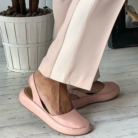 Round Toe Slide Pu Flat Heel Women Sandals