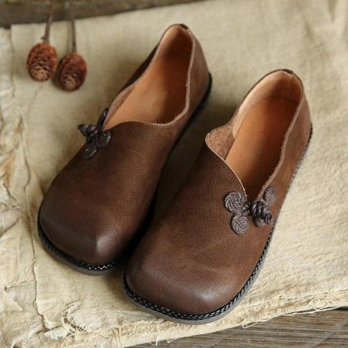 PU LEATHER SOFT LOAFERS
