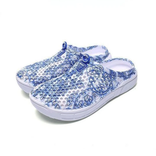 2020 New And Fashional Women's Print Flower Crocs Slippers