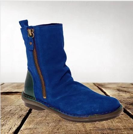 Women's suede retro booties