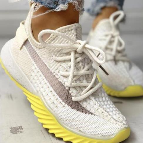 2020 Women Casual Fashion Breathable Walking Mesh Flat Sneakers