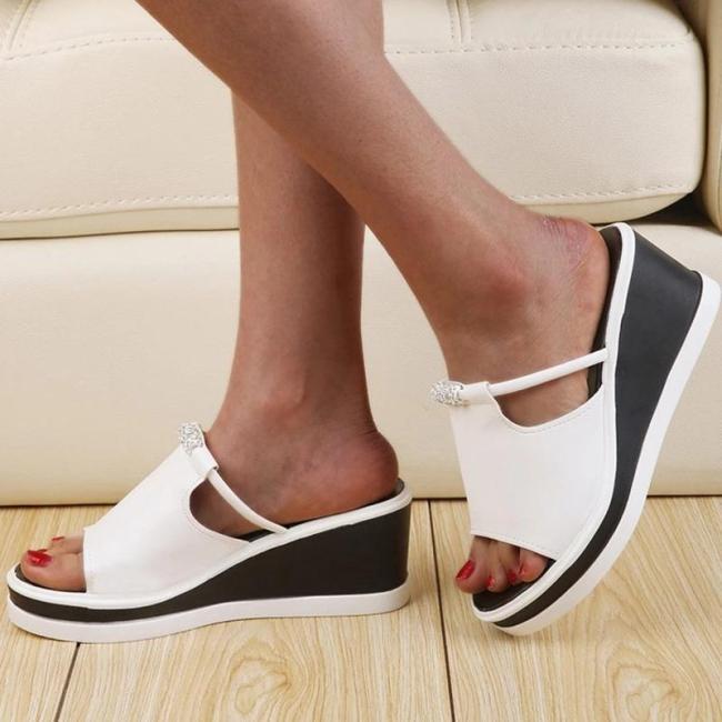 Wedge Heel Flip Flop Platform Slip-On Summer Western Slippers